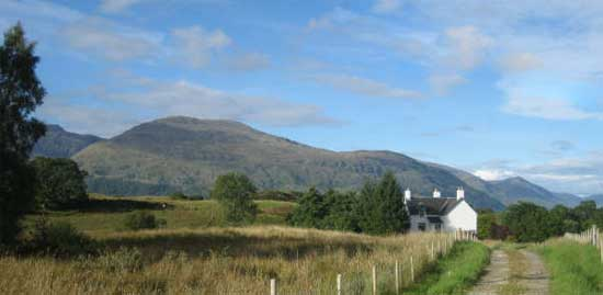 Farmhouse with Cruachan in the background