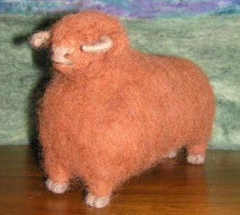 Needle Felted Highland Bull